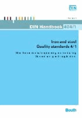 Iron and steel: Quality standards 4/1 - Steel for mechanical engineering and toolmaking General and specific applications.
