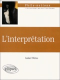 Isabel Weiss - L'interprétation.