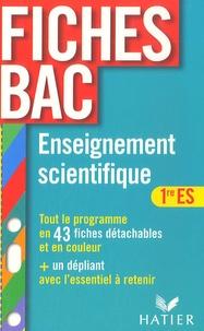 Isabelle Bednarek-Maitrepierre et Bruno Semelin - Enseignement scientifique 1e ES.