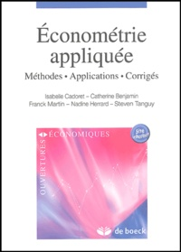 Isabelle Cadoret - Econométrie appliquée - Méthodes, Applications, Corrigés.