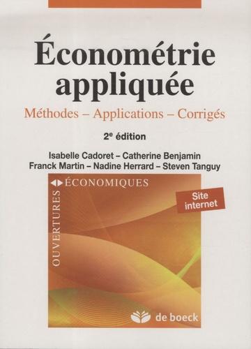 Isabelle Cadoret et Catherine Benjamin - Econométrie appliquée - Méthodes, applications, corrigés.