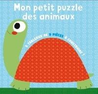Isabelle Chauvet et  Lorentz - Mon petit puzzle des animaux - 5 tableaux de 9 pièces à construire !.
