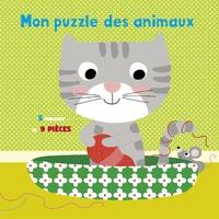Isabelle Chauvet et  Lorentz - Mon puzzle des animaux de compagnie - 5 tableaux de 9 pièces.