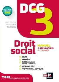 Isabelle Chedaneau et Sébastien Mayoux - DCG 3 - Droit social - Manuel et applications.