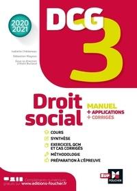 Isabelle Chedaneau et Sébastien Mayoux - DCG 3 Droit social - Manuel et applications.