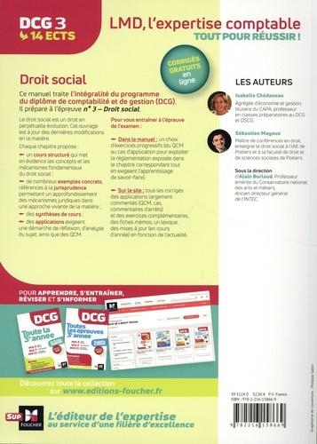 DCG 3 Droit social. Manuel et applications  Edition 2020-2021