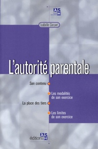 Isabelle Corpart - L'autorité parentale.