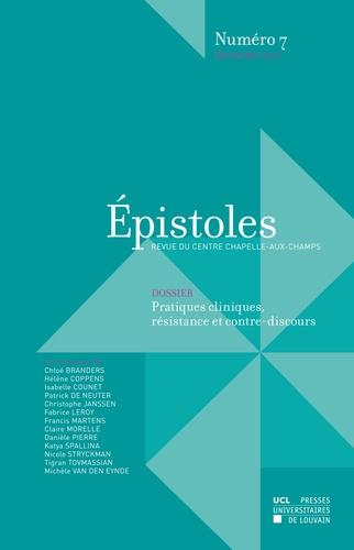 Isabelle Counet et Chloé Branders - Épistoles numéro 7 décembre 2016.