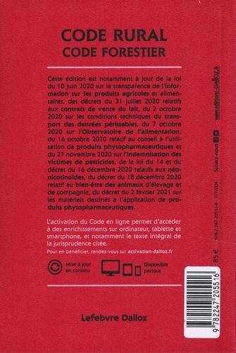 Code rural et de la pêche maritime ; Code forestier. Annoté & commenté  Edition 2021