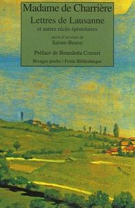 Isabelle de Charrière - Lettres de Lausanne - Et autres récits épistolaires suivis d'un essai de Sainte-Beuve.