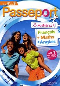 Checkpointfrance.fr Passeport 3 matières de la 4e à la 3e - Français, Maths, Anglais Image