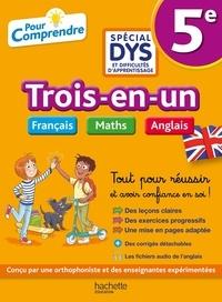 Isabelle de Lisle et Valérie Viron - Trois-en-un Français Maths Anglais 5e - Avec corrigés détachables.