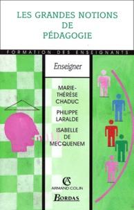 Isabelle de Mecquenem et Marie-Thérèse Chaduc - Les grandes notions de pédagogie.