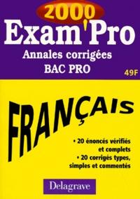 FRANCAIS BAC PRO. - Annales corrigées 2000.pdf