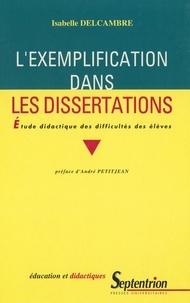 Isabelle Delcambre - L'exemplification dans les dissertations - Étude didactique des difficultés des élèves.