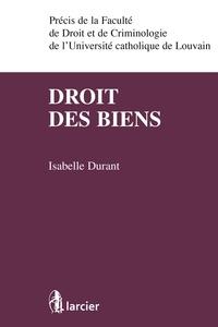 Isabelle Durant - Droit des biens.