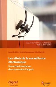 Isabelle Gillet et Nathalie Greenan - Effets de la surveillance électronique - Une expérimentation dans un centre d'appels.
