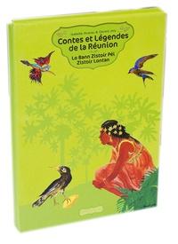 Isabelle Hoarau et Gérard Joly - Contes et légendes de la Réunion - Lo Bann Zistoir Péi Zistoir Lontan - Coffret en 2 volumes. 1 CD audio MP3
