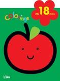 Isabelle Jacqué - La pomme - Coloriage dès 18 mois.