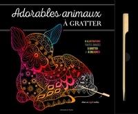 Isabelle Jeuge-Maynart et Ghislaine Stora - Adorables animaux - 6 illustrations toutes douces à gratter et à encradrer. Avec un stylet inclus.