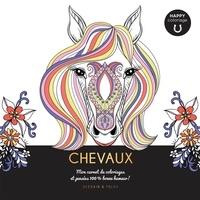 Isabelle Jeuge-Maynart et Ghislaine Stora - Chevaux - Mon carnet de coloriages et pensées 100 % bonne humeur !.