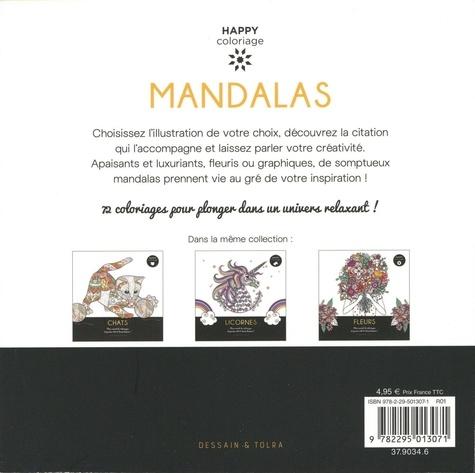 Mandalas. Mon carnet de coloriages et pensées 100 % bonne humeur !