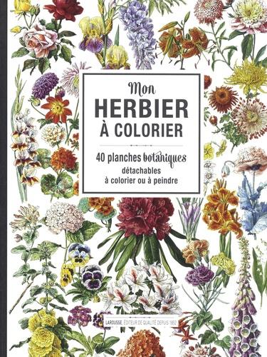 Isabelle Jeuge-Maynart et Ghislaine Stora - Mon herbier à colorier - 40 planches botaniques détachables à colorier ou à peindre.