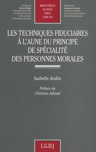 Deedr.fr Les techniques fiduciaires à l'aune du principe de spécialité des personnes morales Image