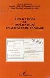 Isabelle Léglise et Emmanuelle Canut - Applications et implications en sciences du langage.