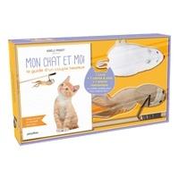 Isabelle Pasquet - Coffret Mon chat et moi, le guide d'un couple heureux - Avec 1 canne à chat et 1 souris mécanique.