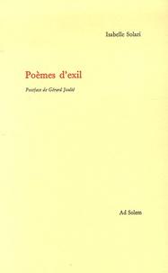 Isabelle Solari - Poèmes d'exil.