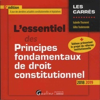 Isabelle Thumerel et Gilles Toulemonde - L'essentiel des principes fondamentaux de droit constitutionnel.