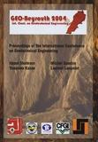 Isam Shahrour et Youssam Kazan - Geo-Beyrouth 2004 - Colloque international de géotechnique.