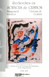 Henri Savall - Recherches en Sciences de gestion N° 96-2013 : .