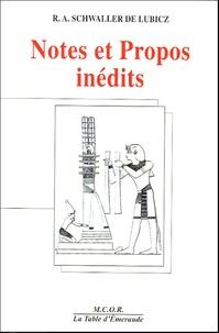 Isha Schwaller de Lubicz - Notes et Propos inédits.