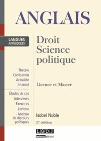 Isobel Noble - Anglais appliqué - Droit, Science politique, Licence et Master.