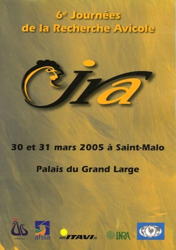 ITAVI - 6e Journées de la Recherche Avicole - 30 et 31 mars 2005 à Saint-Malo, Palais du Grand Large. 1 Cédérom