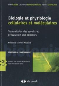 Ivan Couée et Laurence Fontaine-Poitou - Biologie et physiologie cellulaires et moléculaires - Transmission des savoirs et préparation aux concours.