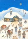 Ivan Gantschev - Calendrier de l'Avent Nativité sous la neige.