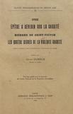 Ives et Richard de Saint-Victor - Epitre à Severin sur la charité - Les quatre degrés de la violente charité.