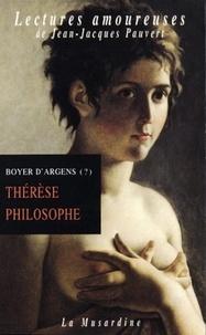 J.-B. de Boyer d'Argens - Thérèse philosophe ou Mémoires pour servir à l'histoire du P. Dirrag et de Mlle Eradice.