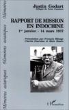 J Godart - Rapport de mission en Indochine - 1er janvier-14 mars 1937.