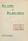 J.-H. Gromolard et Raphaël Diligent - Des vertes et des pas mûres - Quarteron d'histoires rêches cueillies en Nivernais.