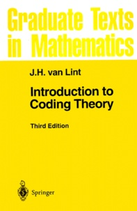 J-H Van Lint - Introduction to Coding Theory.