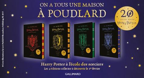Harry Potter Tome 1 Harry Potter à l'école des sorciers (Gryffondor). Edition collector 20e anniversaire