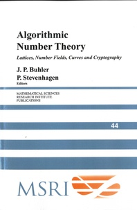 Algorithmic Number Theory: Lattices, Number Fields, Curves and Cryptography - J. P. Buhler | Showmesound.org