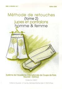 J-P Vauclair - Méthode de retouches - Tome 2, Jupes et pantalons homme & femme.