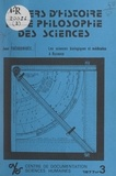J. Poulet et Jean Théodoridès - Les sciences biologiques et médicales à Byzance.