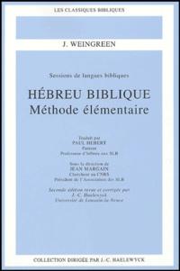Hébreu biblique- Méthode élémentaire - J Weingreen pdf epub