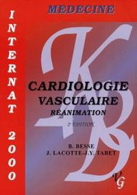 J-Y Tabet et J Lacotte - Cardiologie vasculaire. - Réanimation, Internat 2000, 2ème édition.